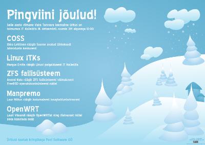 suur plakat - Pingviini jõulud 2010